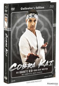 Cobra Kai (Limited Mediabook, Staffel 1, 2 Blu-ray's+2 DVDs, Cover B) (2018) [Blu-ray]