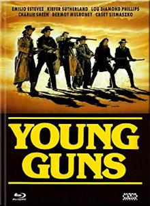 Young Guns (Limited Mediabook, Blu-ray+DVD, Cover C)  (1988) [Blu-ray]