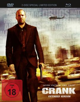 Crank (Extended Version, Limited Mediabook, Blu-ray+DVD) (2006) [FSK 18] [Blu-ray]