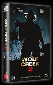 Wolf Creek 2 (3 Disc Limited Uncut Hartbox, Blu-ray + 2 DVDs, Cover B) (2013) [FSK 18] [Blu-ray]