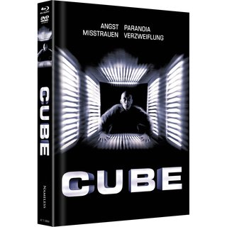 Cube (Limited Mediabook, Blu-ray+DVD, Cover A) (1997) [Blu-ray]