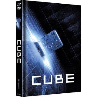 Cube (Limited Mediabook, Blu-ray+DVD, Cover B) (1997) [Blu-ray]