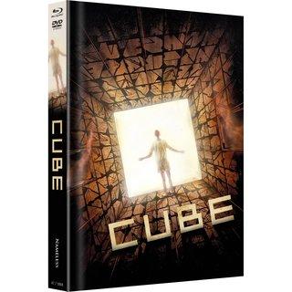 Cube (Limited Mediabook, Blu-ray+DVD, Cover C) (1997) [Blu-ray]