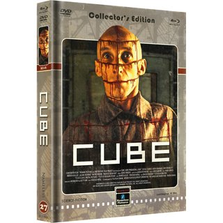 Cube (Limited Mediabook, Blu-ray+DVD, Cover D) (1997) [Blu-ray]