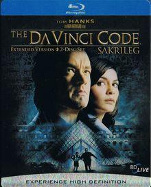 The Da Vinci Code - Sakrileg (Extended Version, Steelbook) (2006) [Blu-ray]