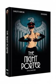 Der Nachtportier (3 Disc Limited Mediabook, 4K Ultra HD+Blu-ray+DVD, Cover B) (1974) [4K Ultra HD]