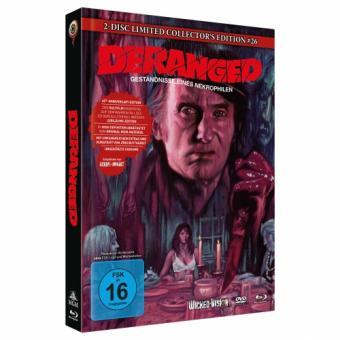 Deranged - Geständnis eines Necrophilen (Limited Mediabook, Blu-ray+DVD, Cover B) (1974) [Blu-ray]