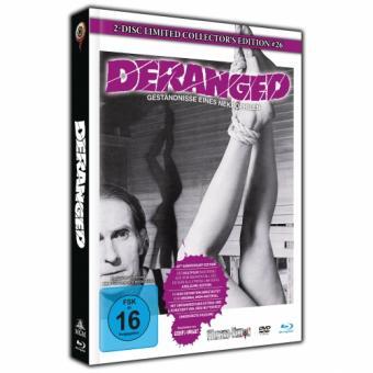 Deranged - Geständnis eines Necrophilen (Limited Mediabook, Blu-ray+DVD, Cover A) (1974) [Blu-ray]