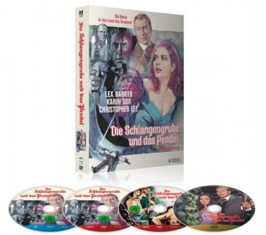 Die Schlangengrube und das Pendel (Limited Mediabook, Blu-ray+2 DVD's+CD-Soundtrack) (1967) [Blu-ray]
