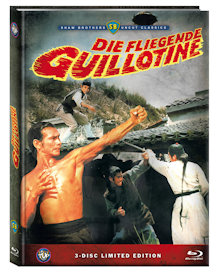 Die fliegende Guillotine (3 Disc Limited Mediabook, Blu-ray+2 DVDs, Cover A) (1975) [FSK 18] [Blu-ray]