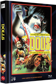 Dolls (Limited Mediabook, Blu-ray+DVD, Cover C) (1987) [FSK 18] [Blu-ray]
