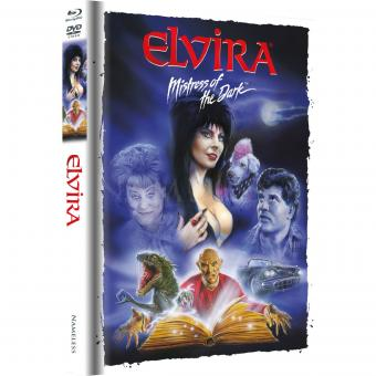Elvira - Herrscherin der Dunkelheit (Limited Mediabook, Blu-ray+DVD, Artwork Cover) (1988) [Blu-ray]
