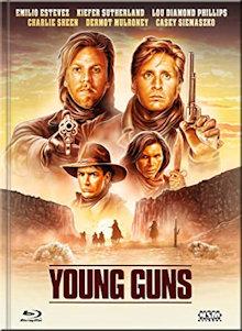 Young Guns (Limited Mediabook, Blu-ray+DVD, Cover E)  (1988) [Blu-ray]