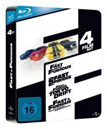 Fast and Furious 1-4 (Limited Jumbo Steelbook) [Blu-ray]