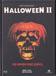 Halloween 2 (Uncut, Limited Mediabook, Blu-ray+3 DVDs, Cover A) (1981) [FSK 18] [Blu-ray]