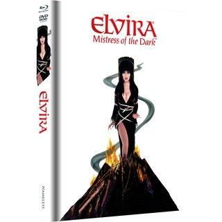 Elvira - Herrscherin der Dunkelheit (Limited Mediabook, Blu-ray+DVD, Fire Cover) (1988) [Blu-ray]