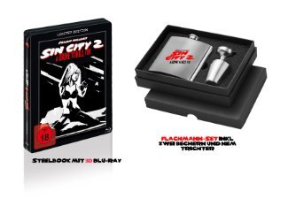 Sin City 2 - A Dame to kill for (Limited Steelbook inkl. Flachmann) (2014) [FSK 18] [3D Blu-ray]