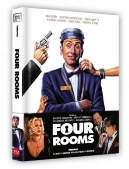 Four Rooms (Limited Wattiertes Mediabook, Blu-ray+DVD) (1995) [Blu-ray]