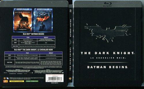 Batman - The Dark Knight/Batman Begins - Steelbook (2 Discs) [EU Import mit dt. Ton] [Blu-ray]