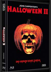 Halloween 2 (Uncut, Limited Mediabook, 2 Blu-ray's+DVD+CD, Cover A) (1981) [FSK 18] [Blu-ray]