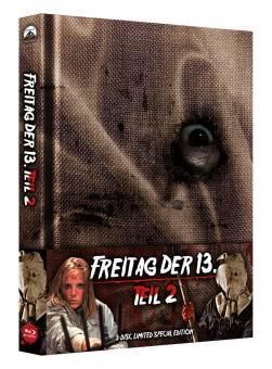 Freitag der 13. Teil 2 (3 Disc Limited Wattiertes Mediabook, Blu-ray+DVD) (1981) [FSK 18] [Blu-ray]