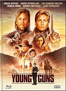 Young Guns (Limited Mediabook, Blu-ray+DVD, Cover F)  (1988) [Blu-ray]