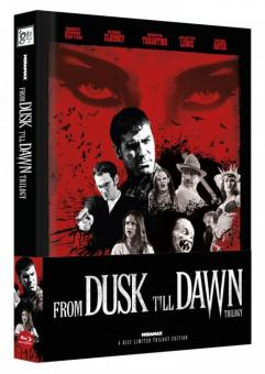 From Dusk Till Dawn Trilogy (Limited Wattiertes Mediabook, Cover C) [FSK 18] [Blu-ray]