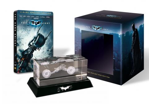 Batman - The Dark Knight (2 DVDs Steelbook, Collector's Edition inklusive Batpod aus Glas) (2008)