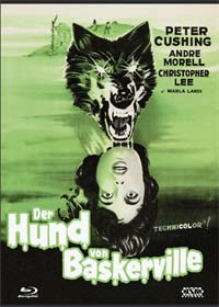 Der Hund von Baskerville (3 Disc Limited Mediabook, Blu-ray+DVD+CD, Cover D) (1959) [Blu-ray]