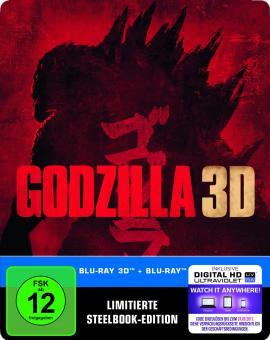 Godzilla (Limited Steelbook, 3D Blu-ray+Blu-ray) (2014) [3D Blu-ray]