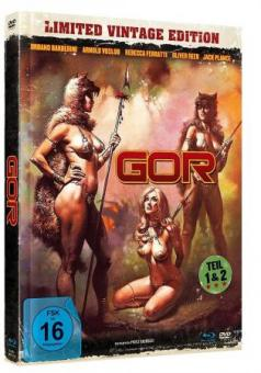 Gor 1+2 (Limited Mediabook, Blu-ray+DVD) (1987) [Blu-ray]