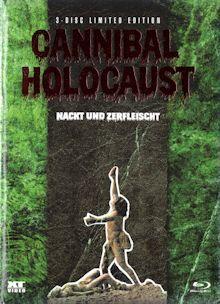 Cannibal Holocaust (Nackt und Zerfleischt) (3 Disc Limited Mediabook, Blu-ray+2 DVDs) (1980) [FSK 18] [Blu-ray]