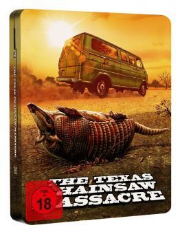 The Texas Chainsaw Massacre - 40th Anniversary Edition (Mastered in 4K Blu-ray + Bonus-Blu-ray im Turbine-Steel) (1974) [FSK 18] [Blu-ray]
