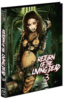 Return of the Living Dead 3 (Limited Mediabook, Blu-ray+2 DVDs, Cover B) (1993) [FSK 18] [Blu-ray]