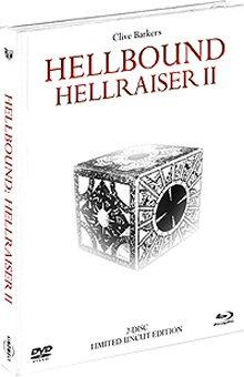 Hellraiser 2 - Hellbound (2 Disc Limited Mediabook, Blu-ray + DVD) (White Edition) (1988) [FSK 18] [Blu-ray]