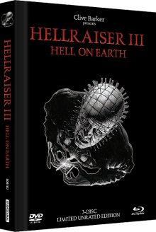 Hellraiser III - Hell on Earth (3 Disc Limited Edition, Blu-ray + 2 DVDs, Mediabook) (Black Edition) (1992) [FSK 18] [Blu-ray]