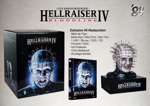 Hellraiser IV (Limited Mediabook,4K Ultra HD+Blu-ray+DVD+CD, inkl. Büste) (1996) [FSK 18] [Blu-ray]