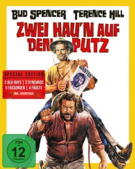 Hügel der blutigen Stiefel (Zwei hau'n auf den Putz) (Limited Mediabook, 2 Blu-rays+CD, Cover A) (1969) [Blu-ray]
