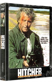 Hitcher, der Highway Killer (Limited Mediabook, Blu-ray+DVD, Exklusiv Cover) (1986) [FSK 18] [Blu-ray]