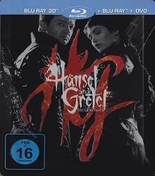 Hänsel und Gretel: Hexenjäger (Limited Steelbook,3D Blu-ray + Blu-ray Extended Cut + DVD) (2013) [3D Blu-ray]