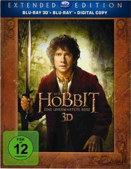 Der Hobbit: Eine unerwartete Reise (Extended Edition, 5 Discs, Blu-ray+3D Blu-ray) (2012) [3D Blu-ray]