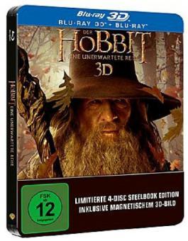 Der Hobbit: Eine unerwartete Reise (+Blu-ray) (Steelbook) (2012) [3D Blu-ray]