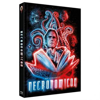 H.P. Lovecraft's Necronomicon (3 Disc Limited Mediabook, Blu-ray+2 DVDs, Cover B) (1993) [FSK 18] [Blu-ray]