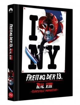Freitag der 13. Teil 8 - Todesfalle Manhattan (Limited Mediabook, Cover C) (1989) [FSK 18] [Blu-ray]
