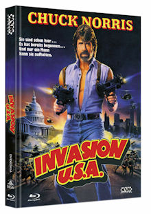 Invasion U.S.A. (Limited Mediabook, Blu-ray+DVD, Cover A) (1985) [FSK 18] [Blu-ray]