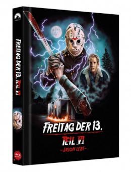 Freitag der 13. Teil 6 (Limited Mediabook, Cover D) (1986) [FSK 18] [Blu-ray]