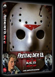 Freitag der 13. Teil 6 (3 Disc Limited Wattiertes Mediabook, Blu-ray+DVD) (1986) [FSK 18] [Blu-ray]