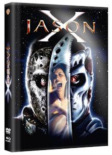 Freitag der 13. Teil 10 - Jason X (Limited Wattiertes Mediabook, Blu-ray+DVD) (2001) [FSK 18] [Blu-ray]
