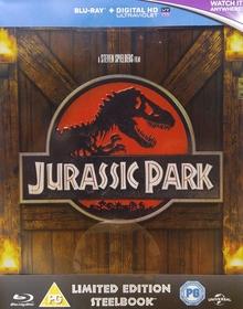 Jurassic Park (Limited Steelbook) (1993) [UK Import mit dt. Ton] [Blu-ray]