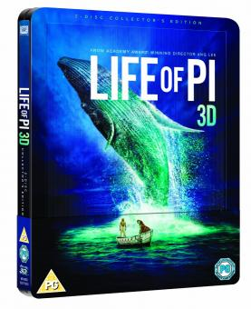 Life of Pi - Schiffbruch mit Tiger (2 Disc Collector's Edition, Steelbook) (2012) [UK Import mit dt. Ton] [3D Blu-ray]